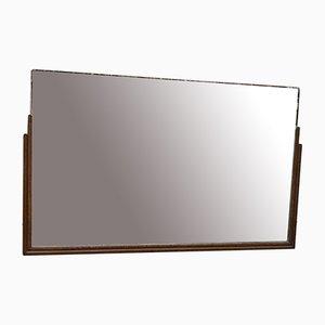 Specchio Art Deco in teak, anni '30