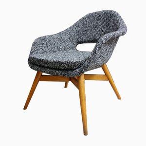 Black & White Fabric Shell Chair by Miroslav Navratil, 1960s
