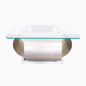 Vintage Coffee Table in the Style of Francois Monnet, 1970s