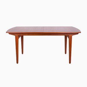 Mid-Century Extendable Teak Dining Table by Knud Andersen for J.C.A. Jensen, 1960s