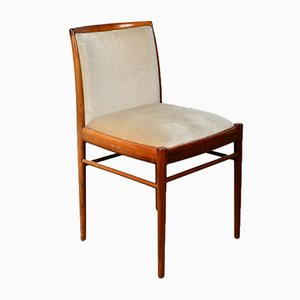 Walnut Dining Chairs with Velvet Upholstery from Benze Sitzmöbel, 1960s, Set of 4