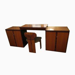 Africa Schreibtisch mit Stuhl von Tobia & Afra Scarpa für Maxalto, 1970er, 2er Set