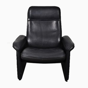 Black Leather DS50 Armchair from de Sede, 1980s