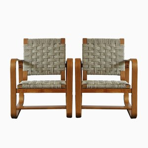 Italian Lounge Chairs by Giuseppe Pagano, 1940s, Set of 2