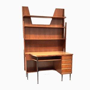 Regalsystem mit Schreibtisch von Gio Ponti, 1950er