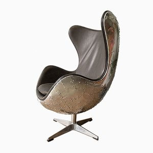 Mid-Century Aviator / Spitfire Style Egg Swivel Chair