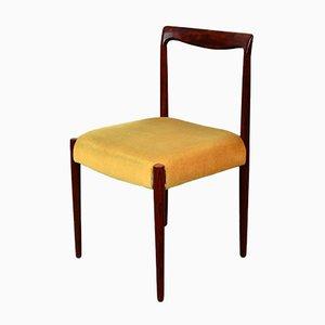 Palisander Esszimmerstühle mit Samtbezug von Lübke, 1960er, 6er Set