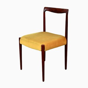 Rosewood Dining Chairs with Velvet Upholstery from Lübke, 1960s, Set of 6