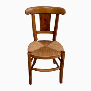 Directoire Period Cherry Chairs, Early 19th Century, Set of 6