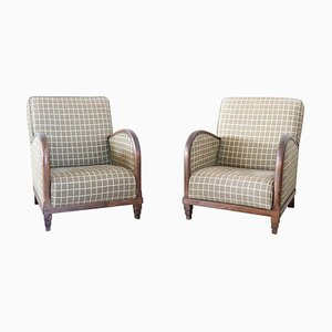 Art Déco Armchairs, 1920s, Set of 2