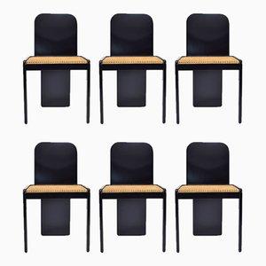 Italienische Esszimmerstühle von Pierluigi Molinari für Pozzi, 1970er, 6er Set