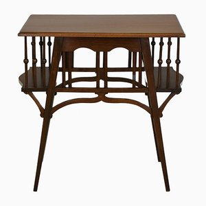 Antique Arts & Crafts Occasional Book Table from Goodyers, 1900s