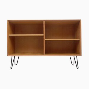 Oak Shelf with Black Hairpin Legs, 1960s