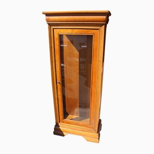 Walnut & Glass Display Cabinet with Glass Shelves, 1960s