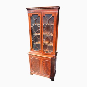 Mahogany Corner Cabinet with Astragal Glazed Top, 1960s