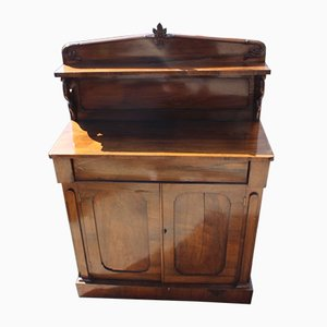 Mahogany 2-Door Chiffonier with Back, 1920s