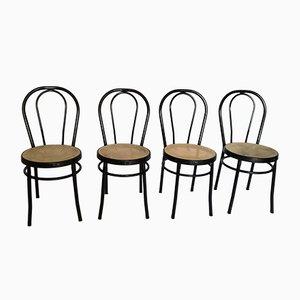 Chaises Bistrot en Fer de Tomaino, 1980s, Set de 4