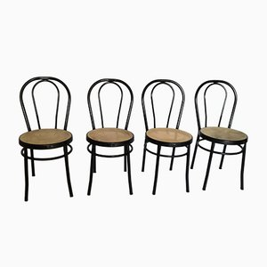 Eisen Bistro Stühle von Tomaino, 1980er, Set of 4