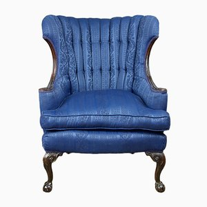 Antique Barrel Back Wing Chair, 1800s