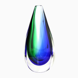 Murano Glass Vase by Sommerso, 1960s