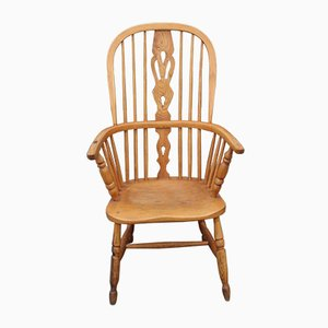 Country Oak Windsor Carver Armchair, 1850s