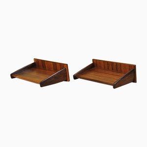 Danish Rosewood Shelves by Melvin Mikkelsen, 1960s, Set of 2