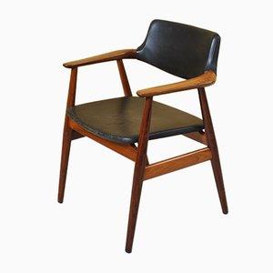 Silla de escritorio de palisandro de Svend Aage Eriksen para Glostrup, años 60