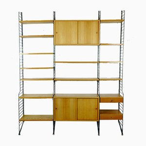 Mid-Century Ladder Shelf / Wall Unit by Kajsa & Nisse Strinning for String
