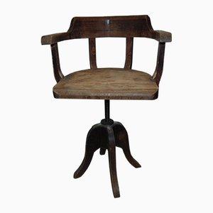 Art Deco Industrial Workshop Swivel Chair, 1920s to 1940s