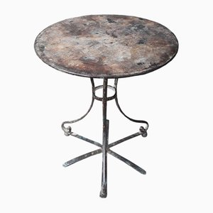 Antique Garden Pedestal Table