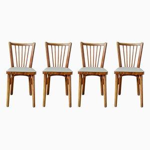Sedie da pranzo di Baumann, anni '50, set di 4