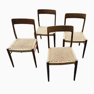 Esszimmerstühle von Niels O. Moller, 1950er, 4er Set