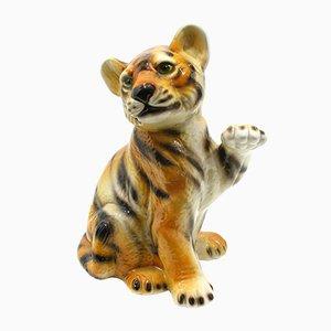Ceramic Tiger Figurine, 1970s