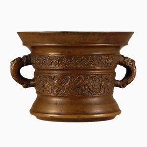 Antike Flämische oder Niederländische Bronze Stößel & Mörser