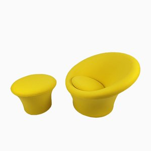 Mushroom Armchair & Pouf by Pierre Paulin for Artifort, 1960s, Set of 2