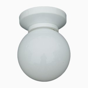 Bauhaus Porcelain Wall or Ceiling Lamp, 1930s
