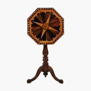 English Side Table with Marquetry