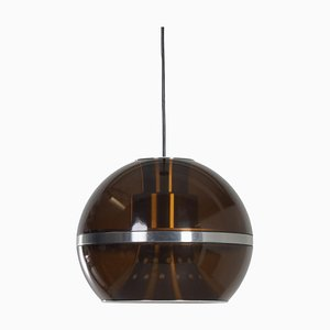 Lampada a sospensione grande sferica di Dijkstra, anni '70