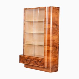 Art Deco Bohemia Walnut Bookcase by Jindrich Halabala, 1930s