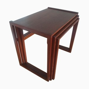 Teak Nesting Tables, Denmark, 1960s, Set of 3