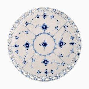 Blaue Continental Schale aus Perforiertem Porzellan von Bing & Grøndahl
