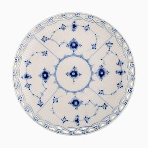 Blue Continental Bowl in Openwork Porcelain from Bing & Grøndahl