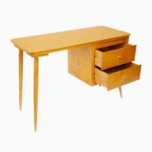 Vintage Two Drawer Wooden Desk, 1960s