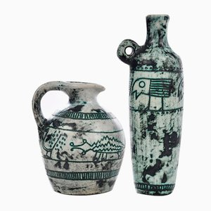 Ceramic Pitchers by Jacques Blin, Set of 2