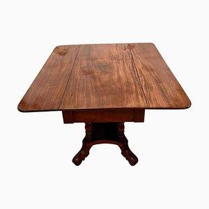 Table d'Appoint 19ème Siècle Regency Antique en Acajou