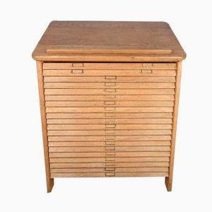 Vintage Industrial Oak Cabinet