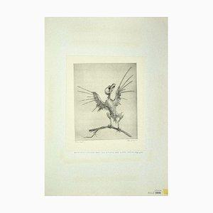 Aguafuerte original de Leo Guida, The Bird, 1972