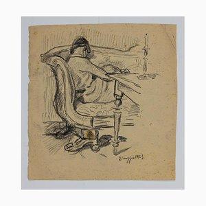 Figure, Original Pencil Drawing, 1923