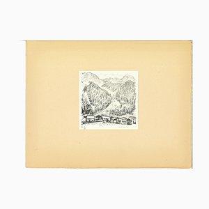 Albert Marquet, Canton Grigioni Berge, Lithographie, Frühes 20. Jahrhundert