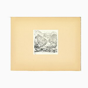 Albert Marquet, Mountains of Canton Grigioni, Lithograph, Early 20th Century